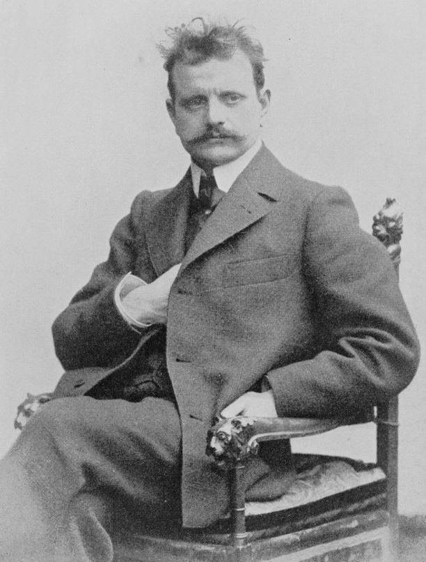 Suurinpiirtein tältä Sibelius näytti Valse Tristen valmistumisen aikoihin. Kuva vuodelta 1902.