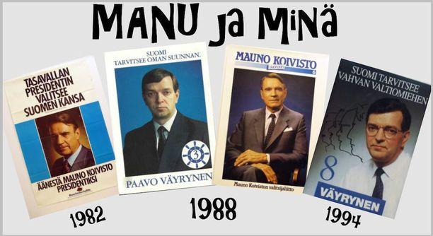Mauno Koivisto esiintyy Paavo Väyrysen näytelmässä itsenään vanhojen videoinserttien välityksellä.