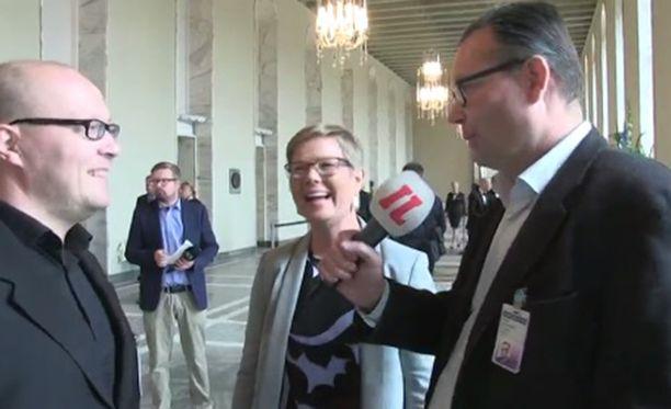 Krista Mikkonen luotsaa vihreiden eduskuntaryhmää.