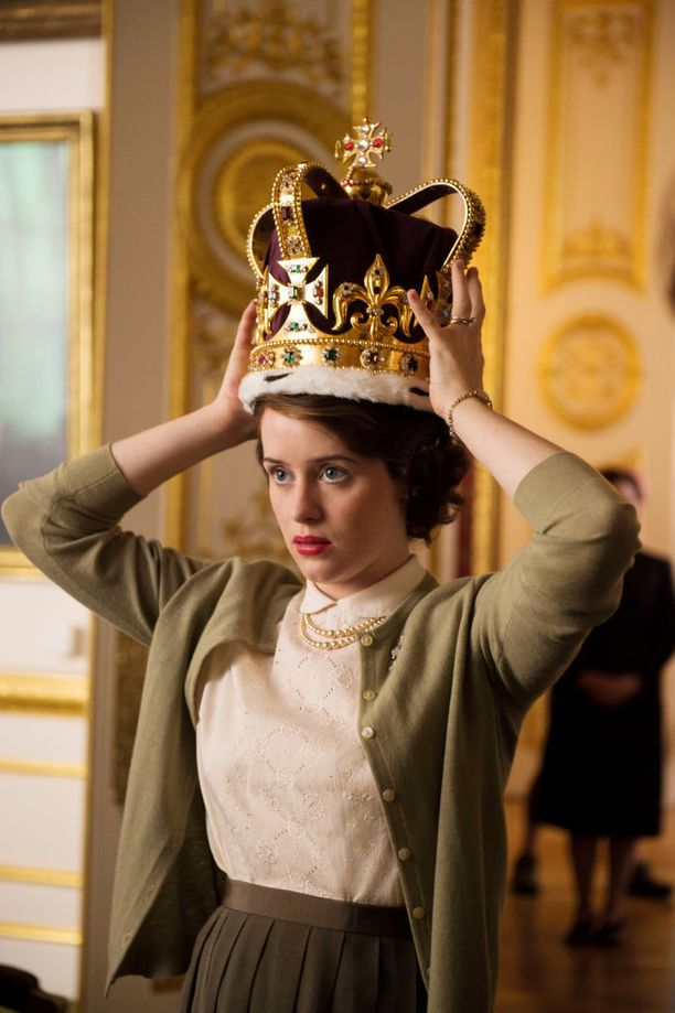 Claire Foy palkittiin roolityöstään Golden Globe-palkinnolla.