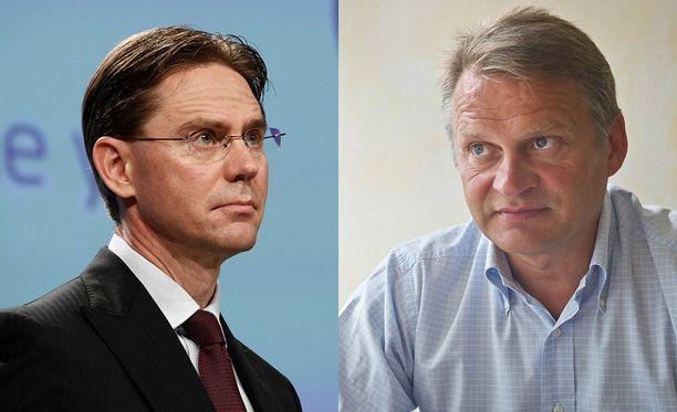 Jyrki Katainen ja Markku Wilenius. Kummasta tulee Sitran uusi yliasiamies?