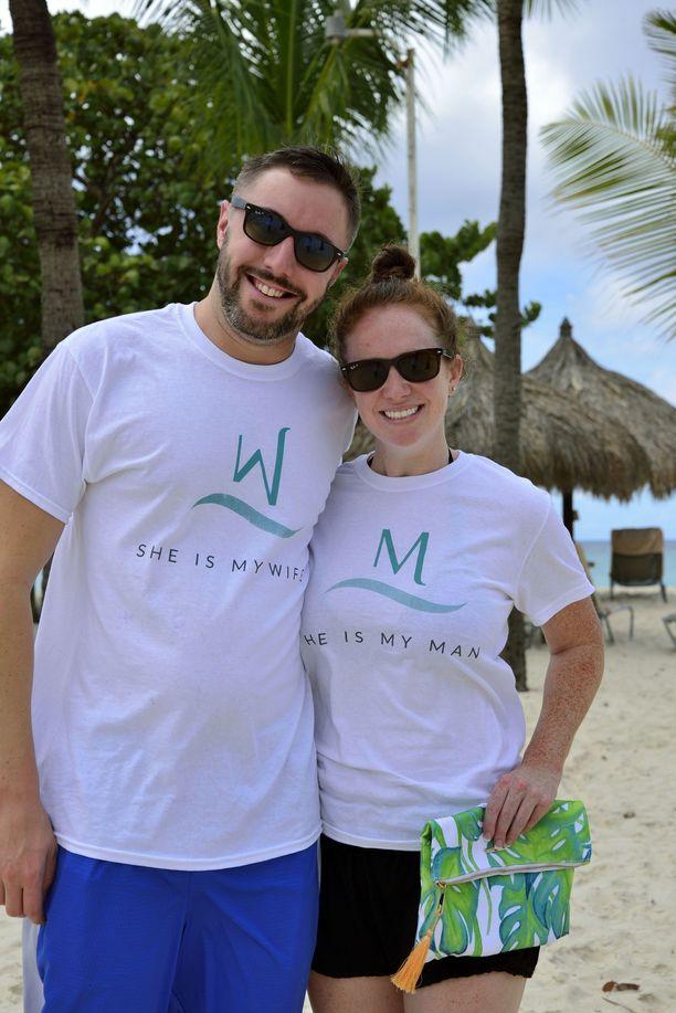 Massachusettsista Yhdysvalloista kotoisin olevan tuoreen avioparin Kelly ja Evan Smithin mielestä Aruba on täydellinen paikka viettää kuherruslomaa.