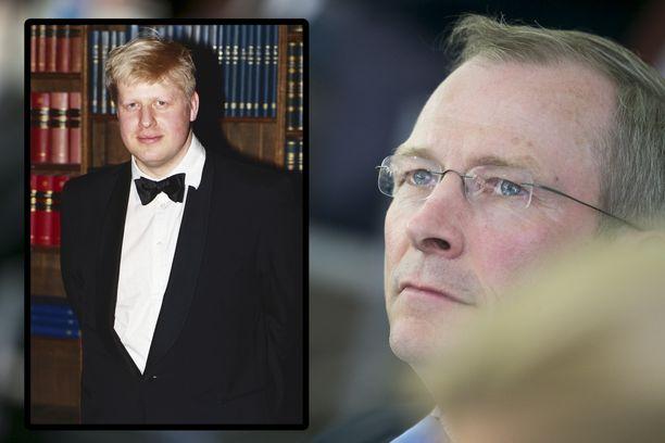 Risto E.J. Penttilä (oik.) muistaa Johnsonin humoristisena. Kuva Boris Johnsonista (vas.) otettu valmistumisen jälkeen.