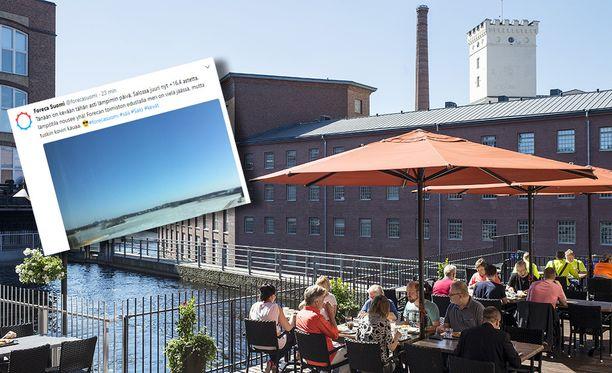Lauantaina on ollut monin paikoin Suomea mainio keli muun muassa terassilla nautskeluun.