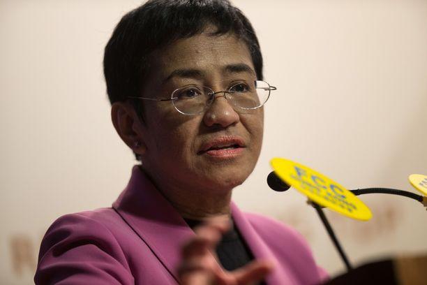 Toimittaja Maria Ressa on kritisoinut Filippiinien hallintoa.