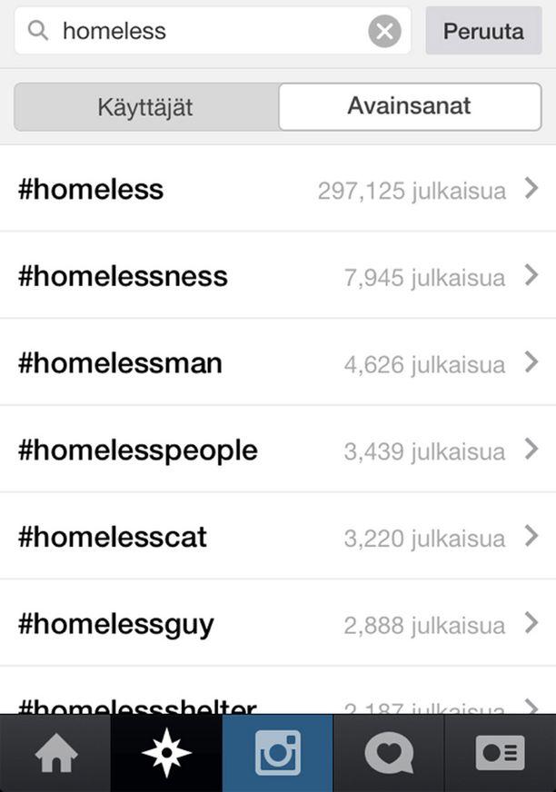 Instagramista löytyy koditon-alkuisilla tunnisteilla tuhansia kuvia.