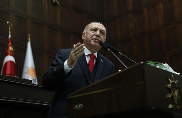 Turkin presidentti Erdogan.