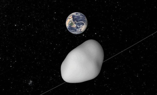 NASA:n tietokoneet ovat simuloineet asteroidi 2012 TC4:n lentorataa.