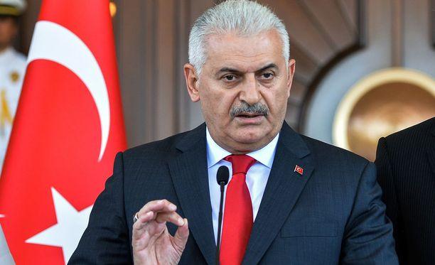 Turkin pääministeri Binali Yildirim.