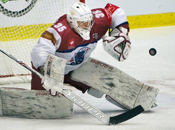 Junost Minsk pelaa Valko-Venäjän kiekkoliigan finaalissa. Kuva vuodelta 2016.