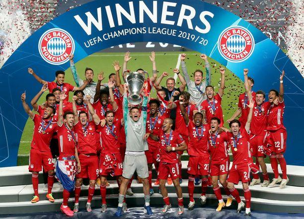 Bayern München juhli Mestarien liigan voittoa elokuussa.