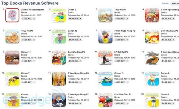iTunesin Top Books -lista meni uusiksi kaappausten myötä