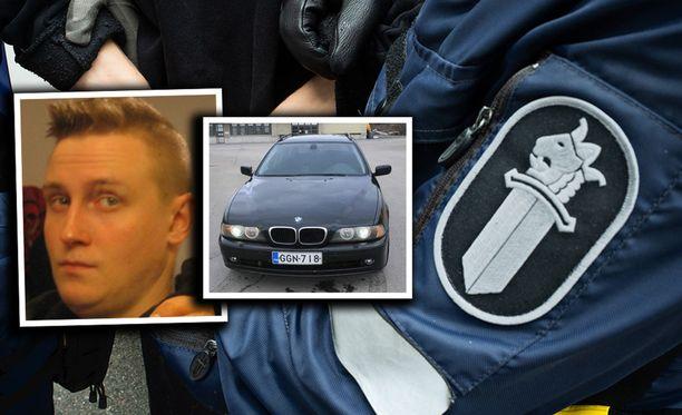 Kuvassa oleva Juuso Sirviön auto on löydetty, mutta poliisi on edelleen toivonut vihjeitä auton liikkeistä katoamisajankohdalta.