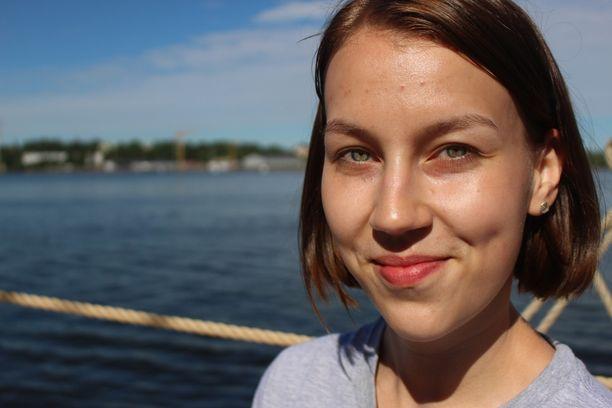 Amanda Dravantti pääsi matkaan Turun kaupungin sponsoroimana.