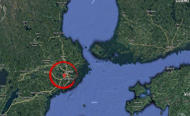 Reilun 40 000 asukkaan Tumba sijaitsee noin 25 kilometrin päässä Tukholmasta.