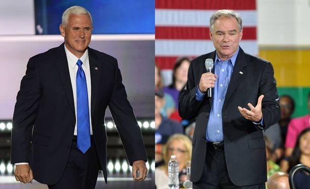 Donald Trump kertoi Mike Pencen (vas.) valinnasta jo aiemmin, mutta hänet nimitettiin virallisesti ehdokkaaksi torstaina. Hillary Clinton ilmoitti Tim Kainen valinnasta perjantaina.