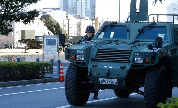 """apanin pääministeri Shinzo Abe kuvaili Pohjois-Korean rakettilaukaisua heti sen tapahduttua """"täysin sietämättömäksi"""" teoksi."""