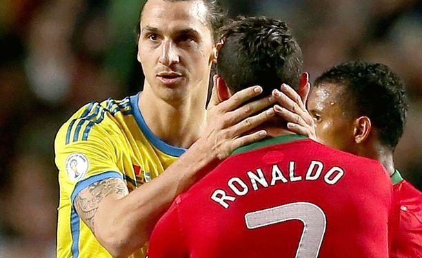 Zlatan Ibrahimovic joutui todeta Cristiano Ronaldon paremmakseen.