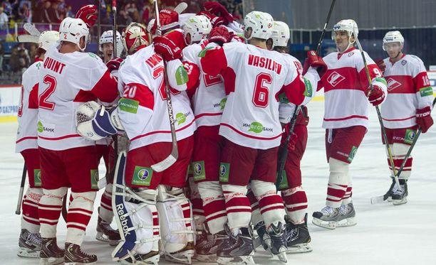 Moskovan Spartak pelasi KHL:ssä vielä viime kaudella.