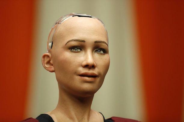 Humanoidirobotti Sophia puhui New Yorkissa YK:n päämajassa taannoin.
