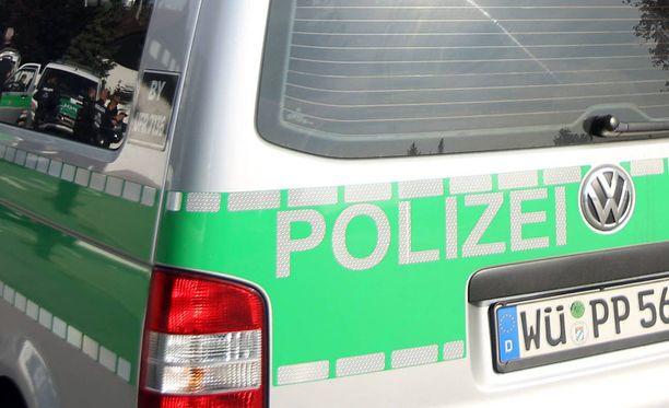Saksan poliisi tutkii kuolemantapausta. Kuvituskuva.