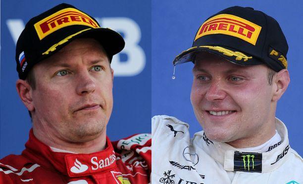 Kimi Räikkönen ja Valtteri Bottas päätyivät Venäjällä podiumille.