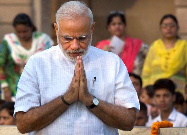 Intian pääministeri Narenda Modi tavoittelee jatkokautta tulevissa vaaleissa.