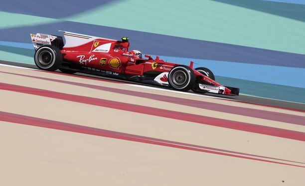Kimi Räikkönen löysi hyvät asetukset autoonsa.