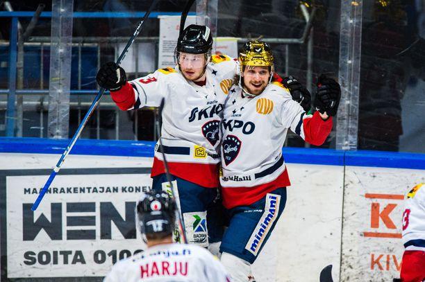 Hermeksen Zdenek Sedlak taituroi tiistaina kolme maalia.