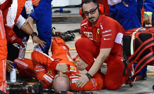 Francesco Cigarini loukkaantui vakavasti eilisessä Bahrainin GP:ssä.