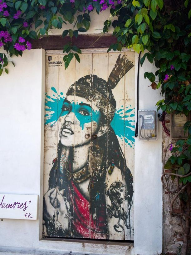 Taiteilija: Fin DAC. Paikka: Cartagena, Kolumbia.