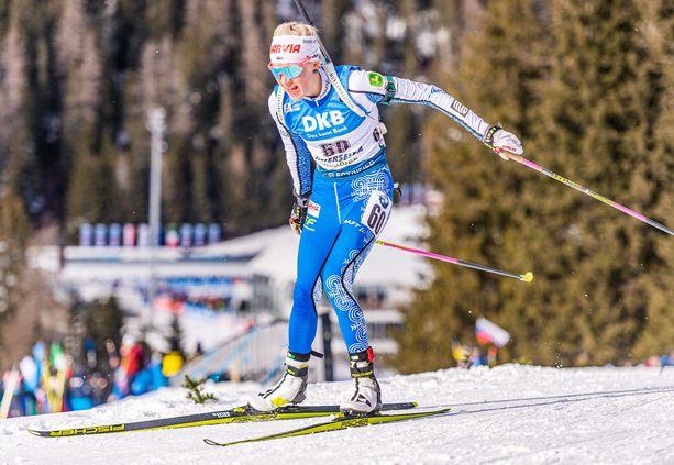 Kaisa Mäkäräinen kilpailee viikonloppuna Tshekissä, mutta ilman yleisöä.