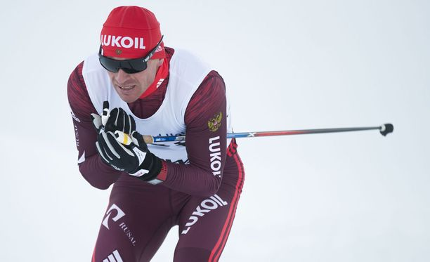 Maxim Vylegzhanin kilpaili muina miehinä Muoniossa Oloksen Tykkikisoissa lauantaina.