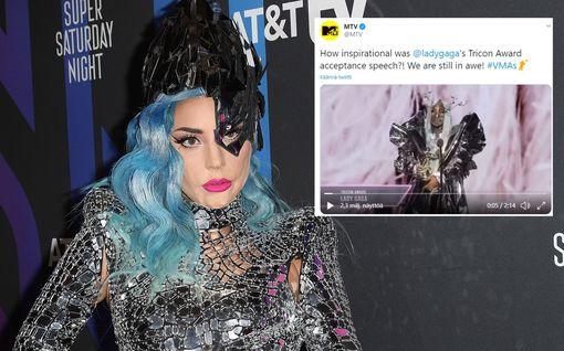 Lady Gaga putsasi palkintopöydän MTV Video Music Awardsissa – kruunasi rohkeat asukokonaisuutensa näyttävillä maskeilla