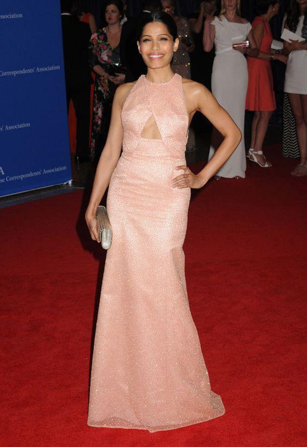 Näyttelijä Freida Pinto.