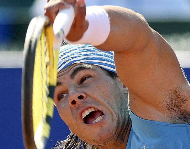 Rafael Nadalin syöttö on murskaava.