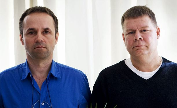Entinen hallituksen entinen puheenjohtaja Ilkka Kuokkanen (vas.) ja entinen toimitusjohtaja Harri Johannesdahl tuomittiin vuosi sitten vankilaan.