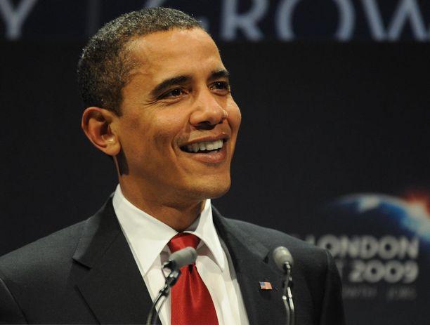 Barack Obama piti puhetta ensimmäisenä presidenttivuotenaan 2009 Lontoon huippukokouksessa.