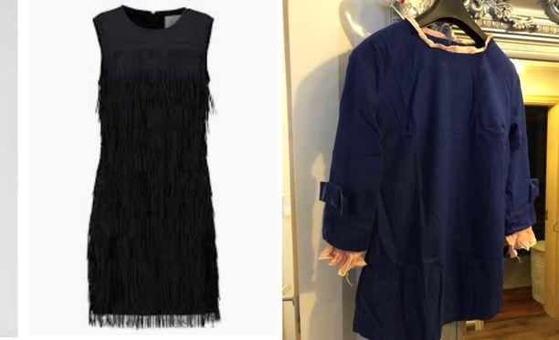 Mustan juhlamekon sijaan postissa saapuikin sininen siivoojan mekko.