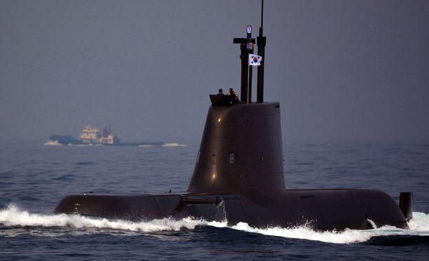 Etelä-Korean sukellusvene. Arkistokuva.
