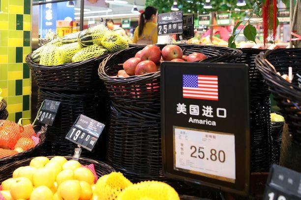 Myös yhdysvaltalaiset hedelmät joutuvat lisätunnin piiriin.