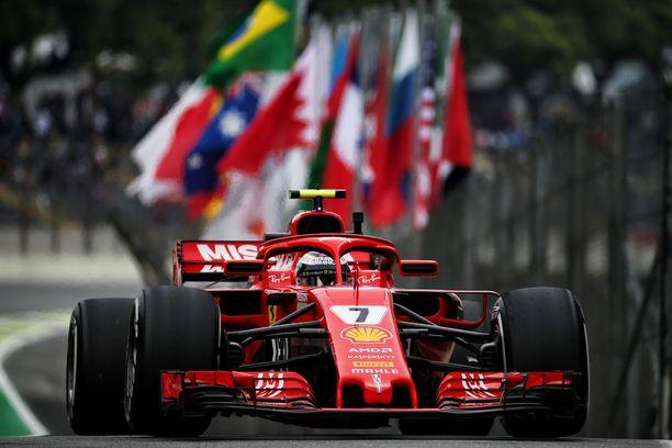 Kimi Räikkönen nappasi ainoan Brasilian GP -voittonsa mestaruusvuonnaan 2007.