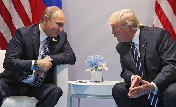 Putin ja Trump tapasivat 7. heinäkuuta Hampurissa.