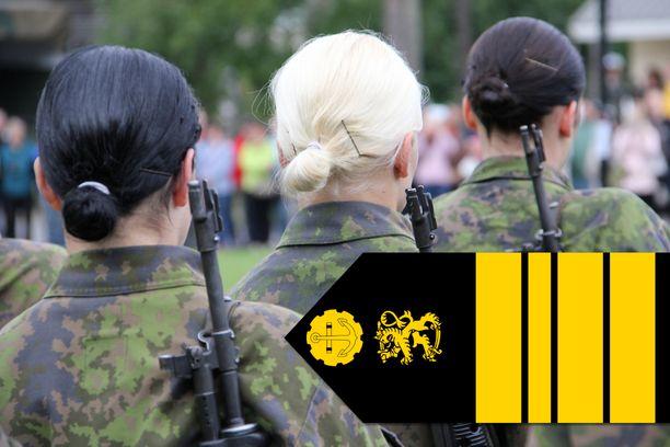 Ensimmäinen nainen palvelee nyt Suomen puolustusvoimissa komentajana. Kuvituskuva.