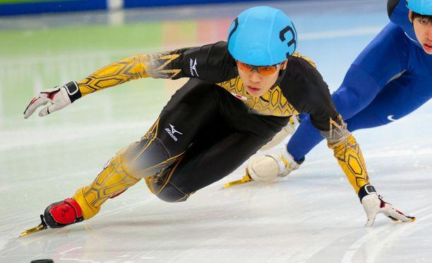 Kei Saito oli varamies Japanin 5 000 metrin kaukalopikaluistelujoukkueessa.