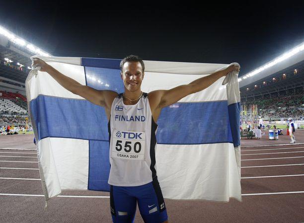 Tero Pitkämäki on keihäänheiton maailmanmestari vuodelta 2007.