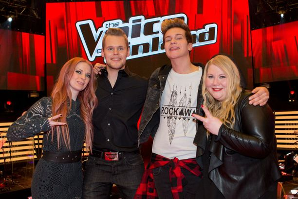Jennie, Jani, Jesper ja Miia. Joku heistä on The Voice of Finlandin uusi voittaja.