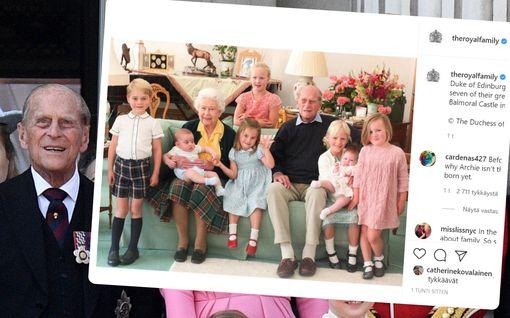 Prinssi Philip oli rakastava isoisä – ihanat kuvat lastenlasten ja lastenlastenlasten kanssa