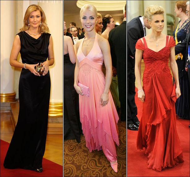 Maria Guzenina-Richardsonilla, Kiira Korvella ja Minna Kaupilla on muita kiireitä Linnan juhlien aikaan.