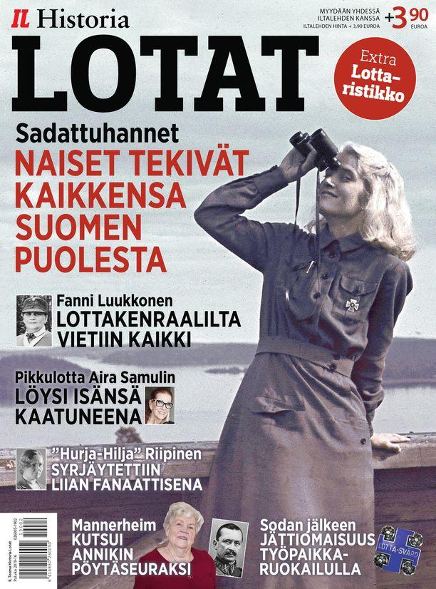 Iltalehden uusi historialehti LOTAT: Ompeluseuroista kasvoi satojentuhansien naisten järjestö, jonka työ oli korvaamatonta itsenäisyydestään taistelevalle Suomelle. Lehdessä käydään läpi muun muassa Lotta Svärdin historia, lottien merkitys sodissa sekä kerrotaan tunnetuista suomalaisista naisista, jotka ovat palvelleet lottatehtävissä. Myydään yhdessä Iltalehden kanssa, Iltalehden hinta + 3,90 euroa.